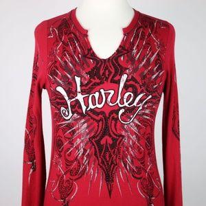 HARLEY DAVIDSON Waffle Knit Thermal Shirt XS